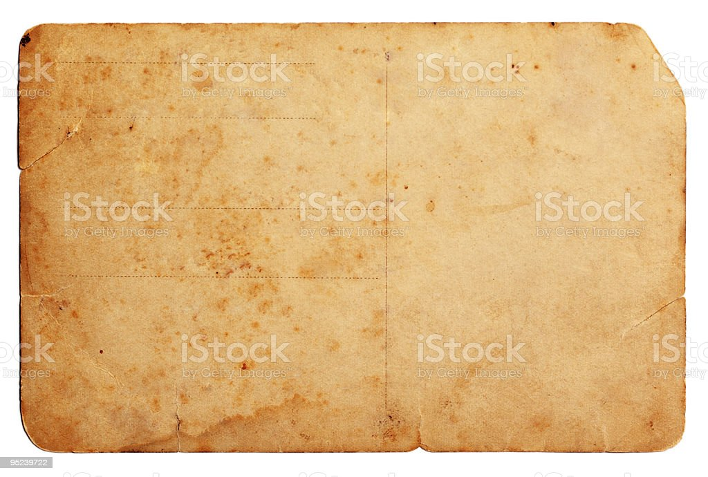 old-fashioned grunge postcard royalty-free stock photo