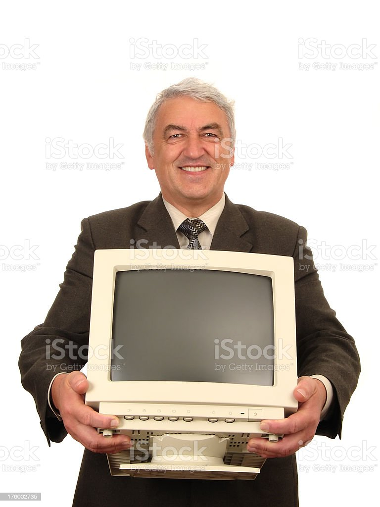 Old-Fashioned IT Worker royalty-free stock photo