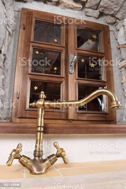 Oldfashioned Kitchen Faucet Stock Photo Download Image Now Istock