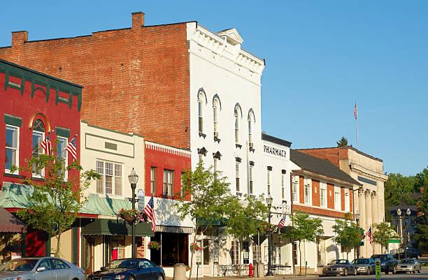 Old-fashioned Main Street stock photo