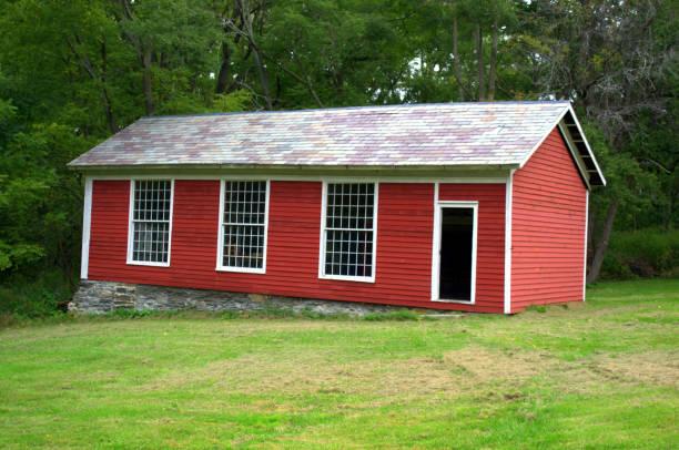 Altmodische ein Zimmer Shaker Schulhaus – Foto
