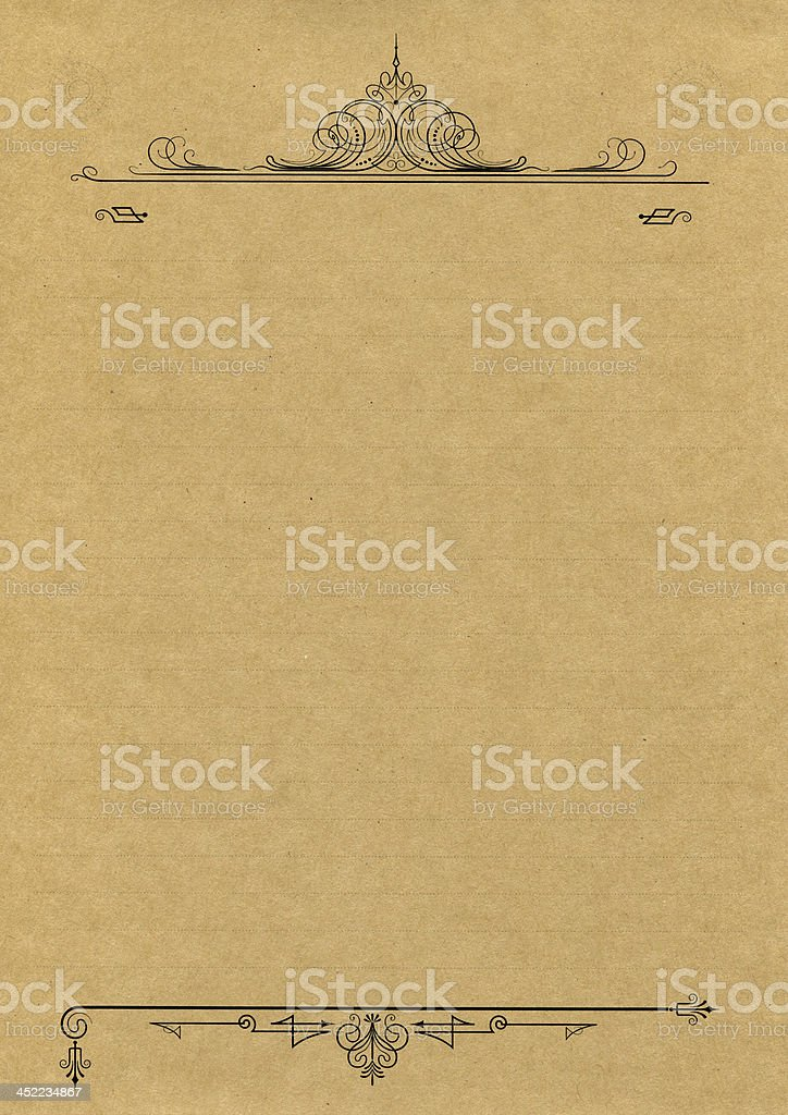 old-fashioned paper royalty-free stock photo