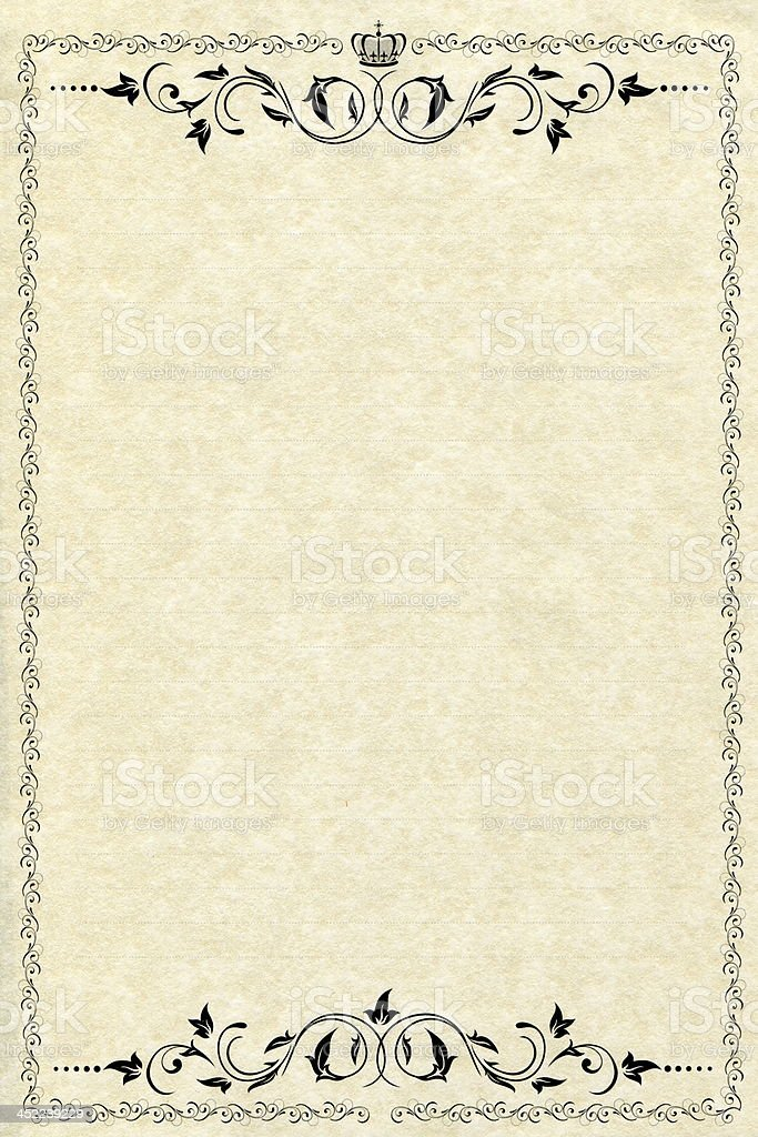 old-fashioned paper stock photo
