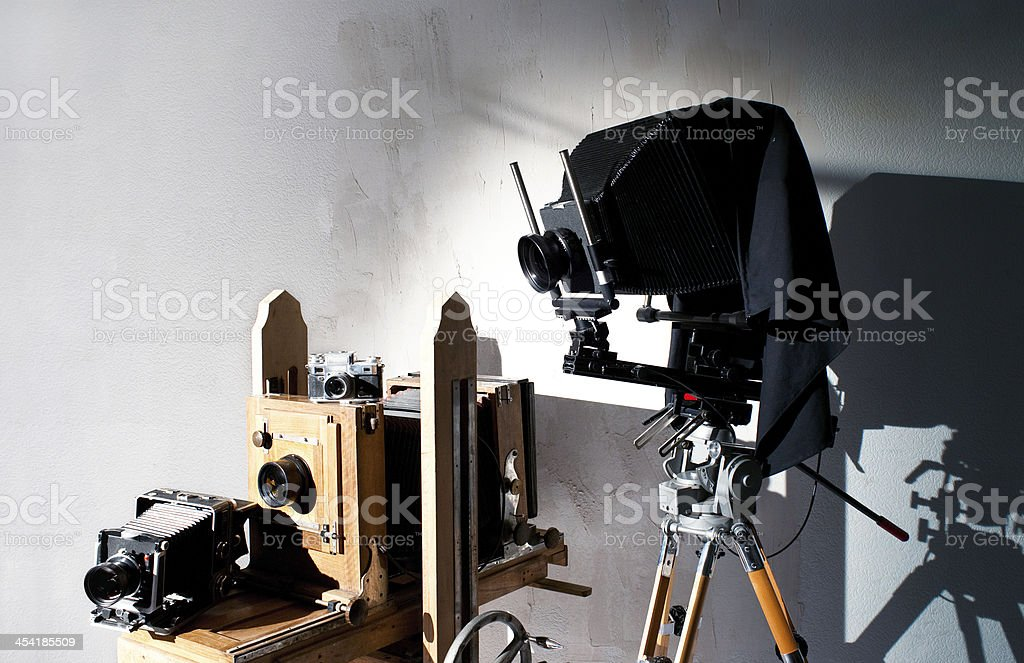 Old-fashioned photo equipment royalty-free stock photo