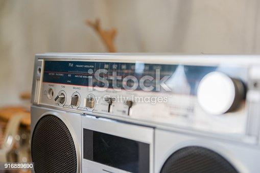 istock Old-fashioned radio 916889690
