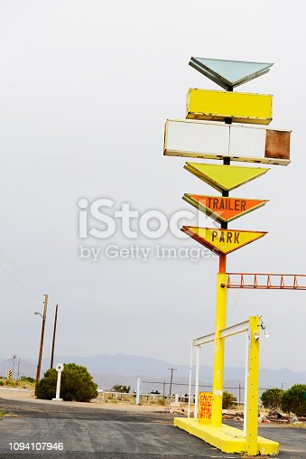 Old-fashioned Sign on Route 66, Arizona.