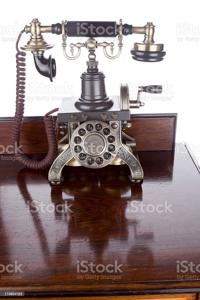 Old-fashioned Telephone royalty-free stock photo