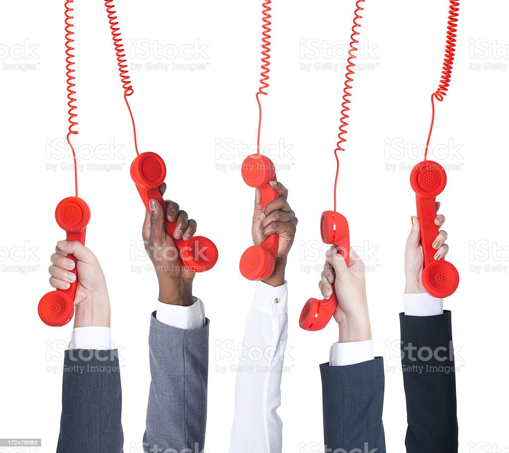 Old-Fashioned Telephone Receiver royalty-free stock photo