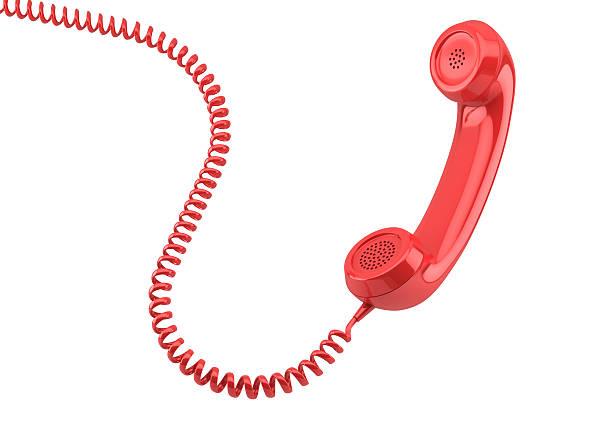 old-fashioned ricevitore del telefono - cornetta telefono foto e immagini stock