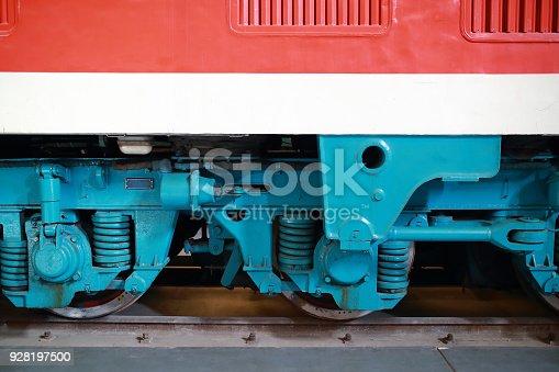 istock Old-fashioned train 928197500