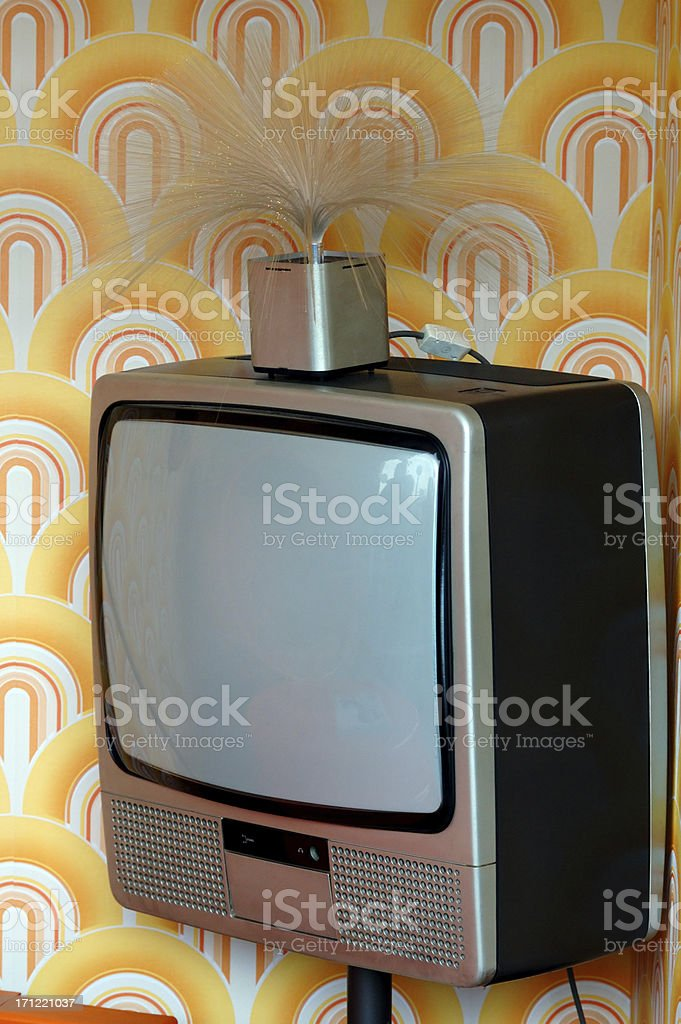 old-fashioned tv stock photo