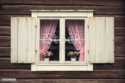 istock Old-fashioned window 848099566