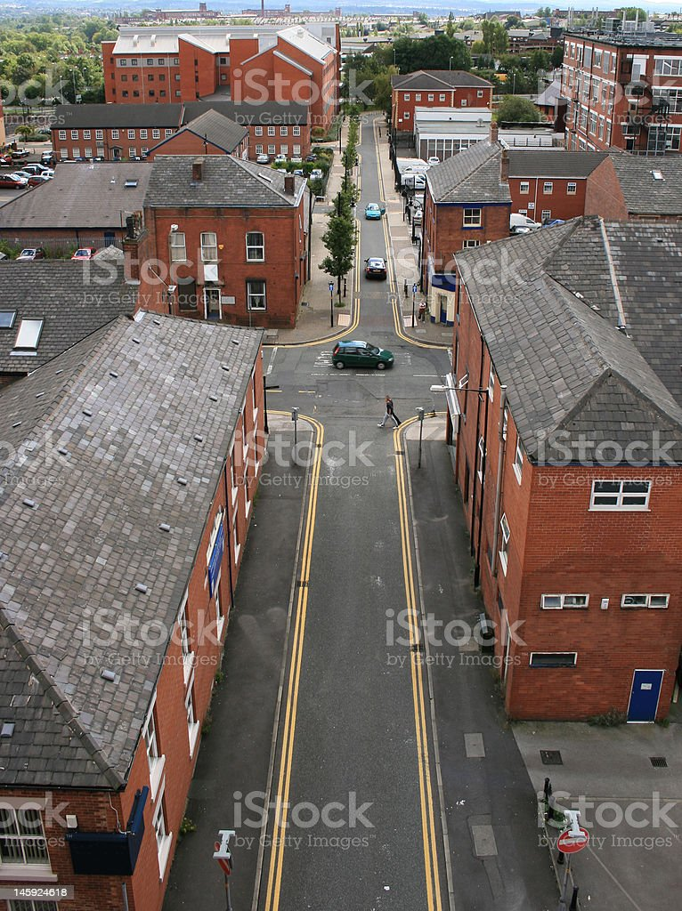 Oldham town stock photo