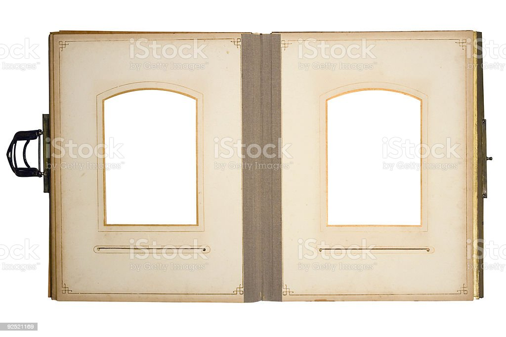 OldPhoto Album for 2 Pictures (Path Included) royalty-free stock photo