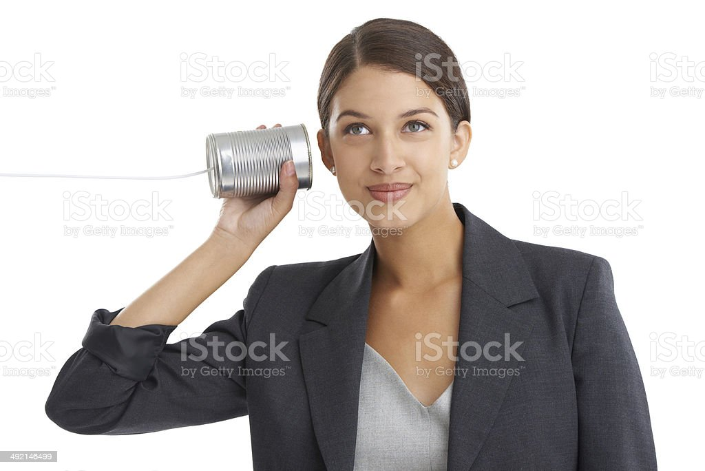 Old-school communication stock photo