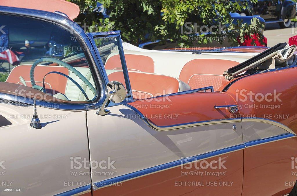 Oldsmobile 1955 Convertible royalty-free stock photo