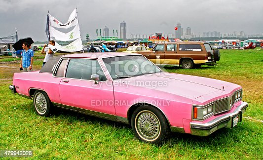 Moscow, Russia - July 10, 2011: American motor car Oldsmobile Regency exhibited at the annual International Motor show Autoexotica.