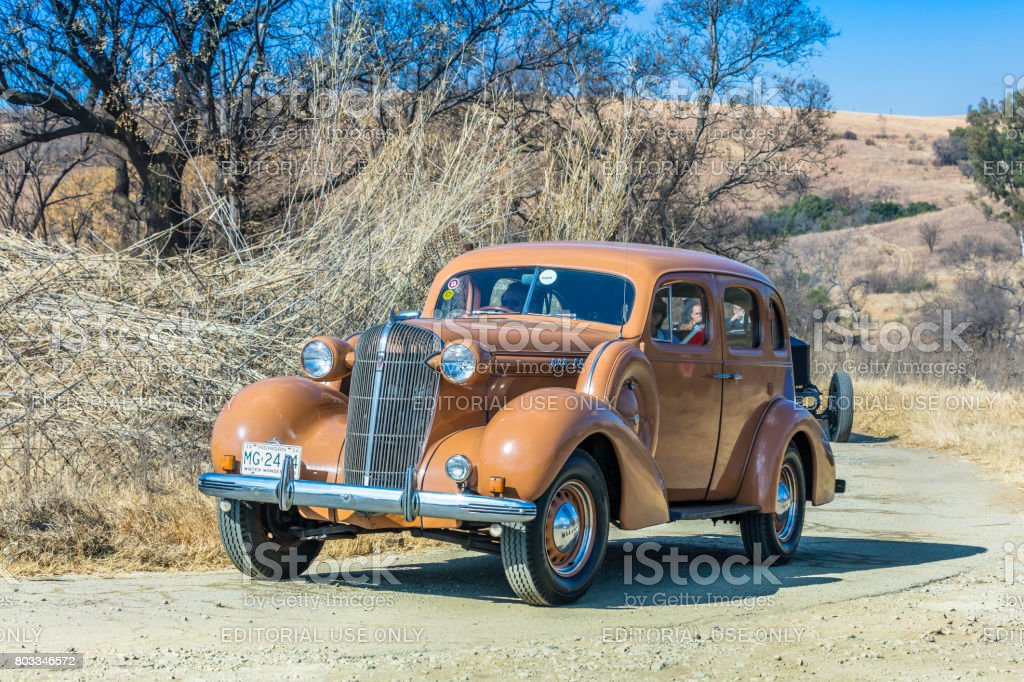 Oldsmobile vintage vehicle at a show in Magaliesberg stock photo