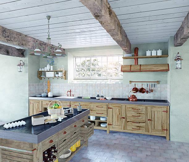 old-style-küche - landküche stock-fotos und bilder
