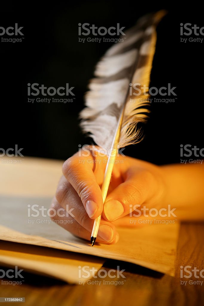 Old-style writing royalty-free stock photo