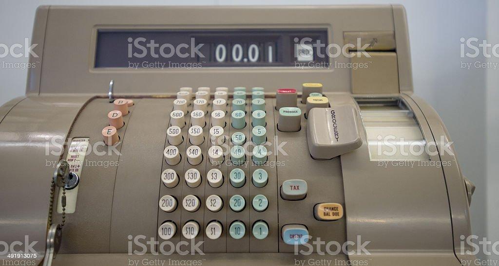 Antiga dinheiro e inscreva-se em uma loja - foto de acervo