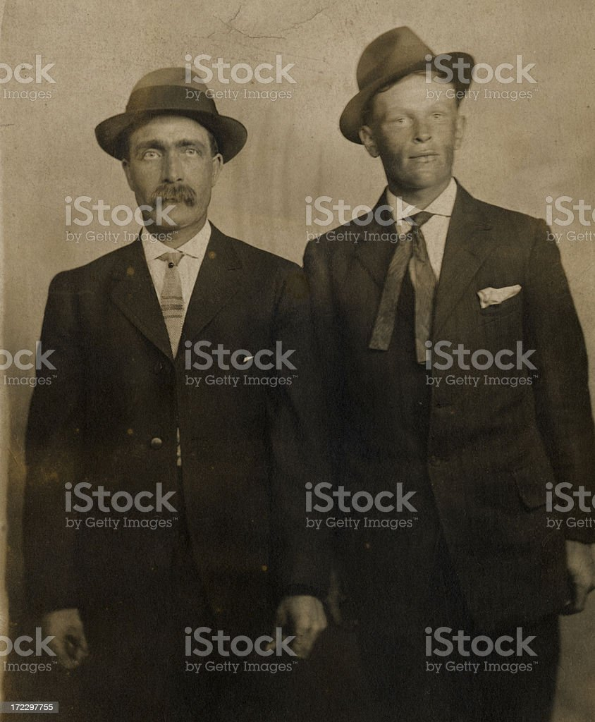 Old-Time Guys #2 (Antique) stock photo