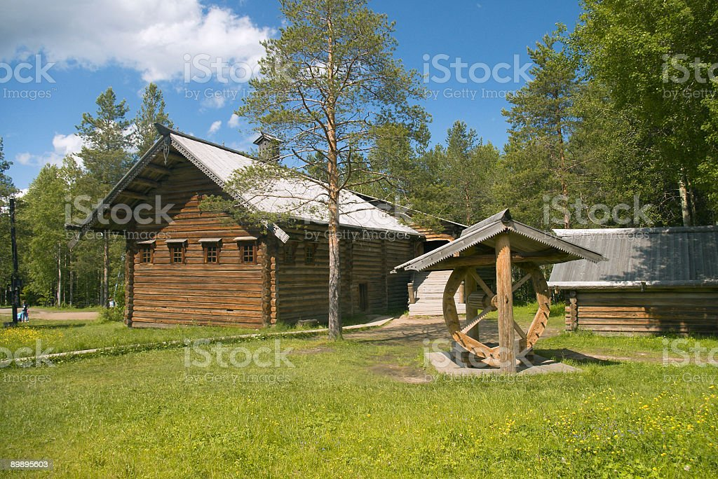 Old-time peasant homestead royalty-free stock photo