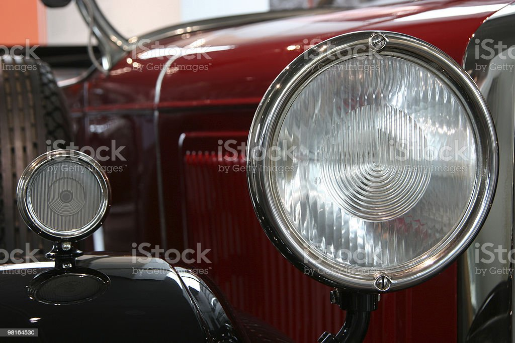 oldtimer car headlamps royalty-free stock photo