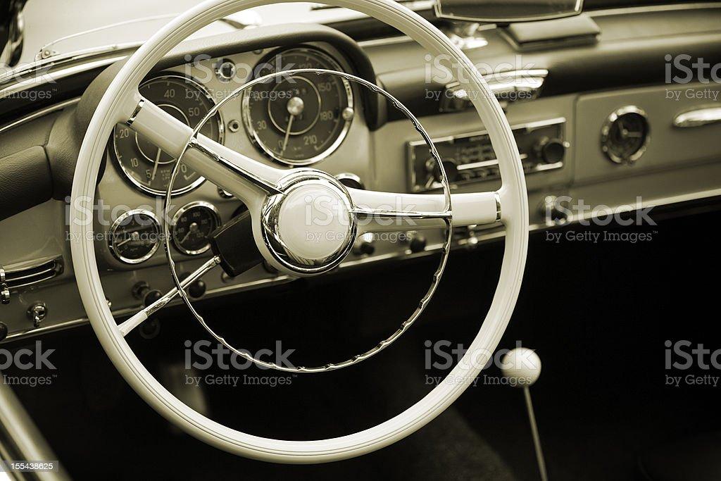 Oldtimer Cockpit stock photo