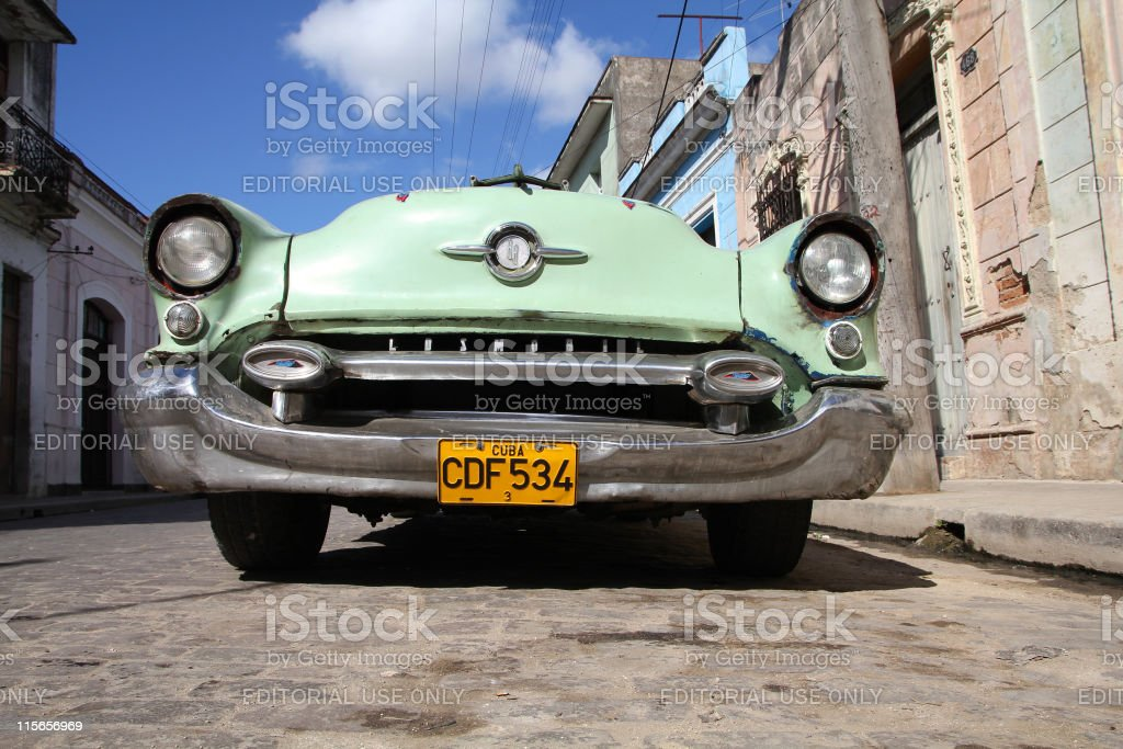 Oldtimer in Cuba stock photo