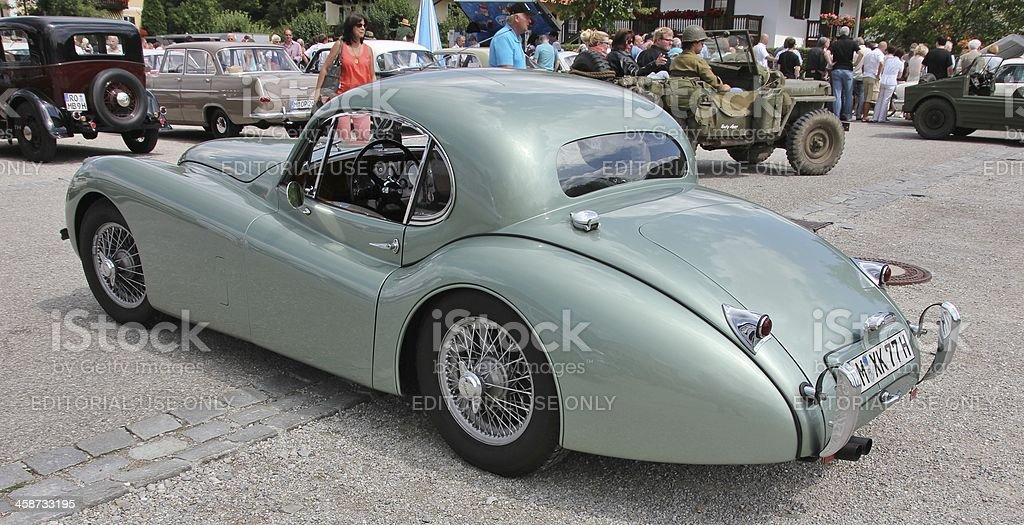 Oldtimer Jaguar XK stock photo