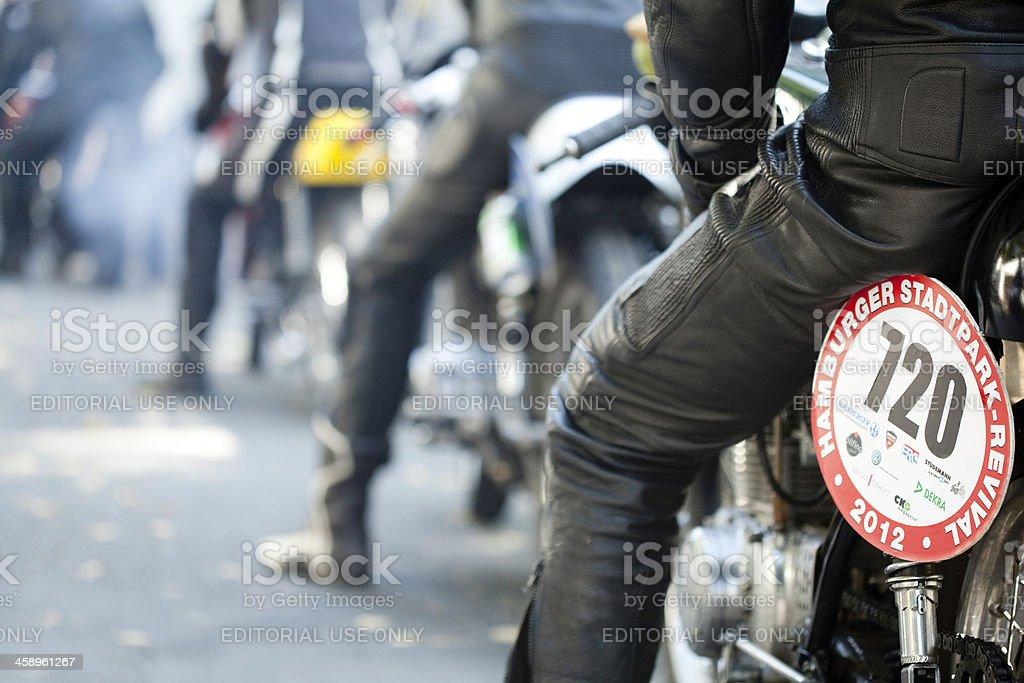 Oldtimer motorcycle stock photo