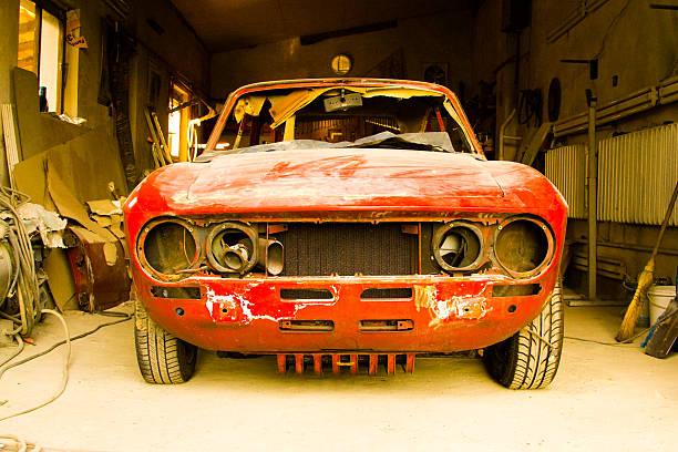 oldtimer - alten muscle cars stock-fotos und bilder