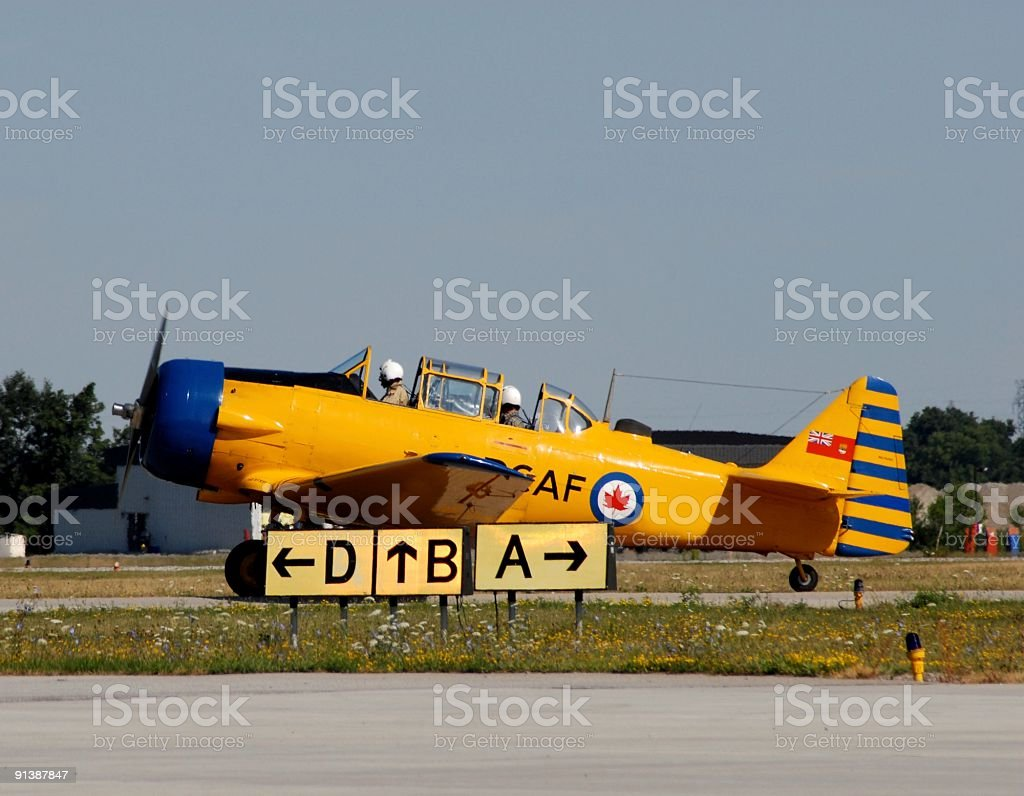 Oldtimer plane royalty-free stock photo
