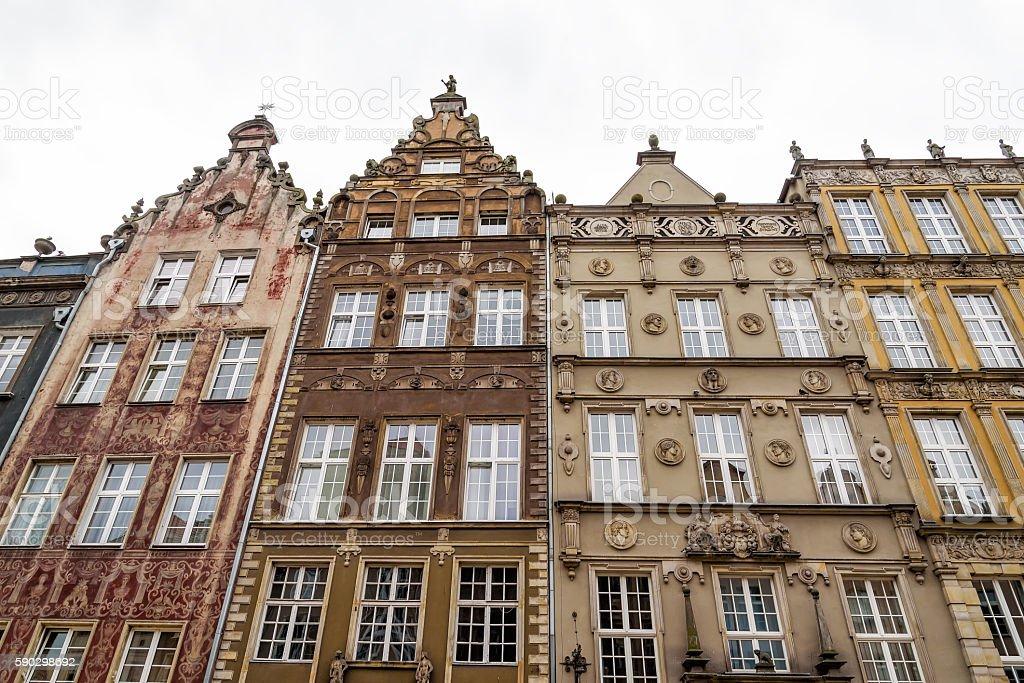 Oldtown in Gdansk royaltyfri bildbanksbilder