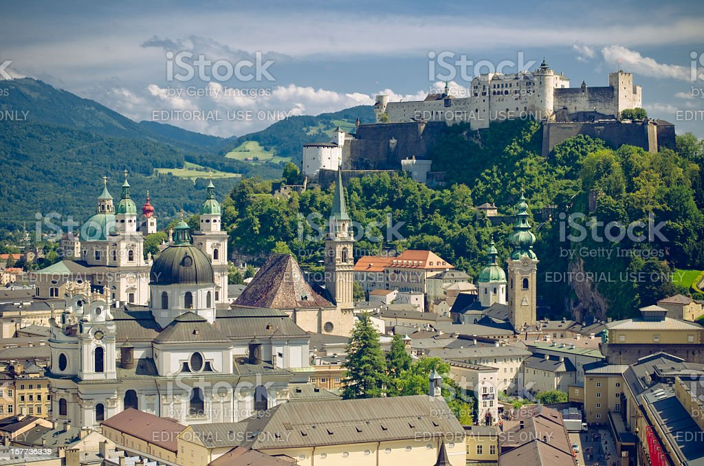 oldtown of salzburg royalty-free stock photo