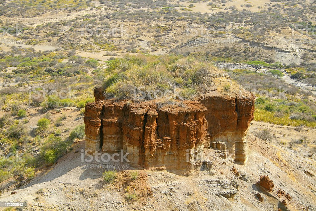 Olduvai archeological site royalty-free stock photo