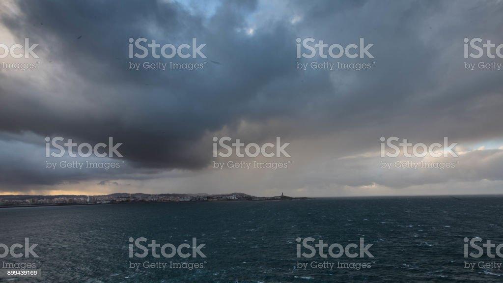 Oleiros, lighthouse stock photo