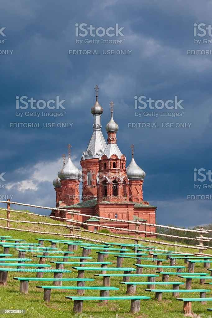 Olgas ancient orthodox church. Russia royalty-free stock photo