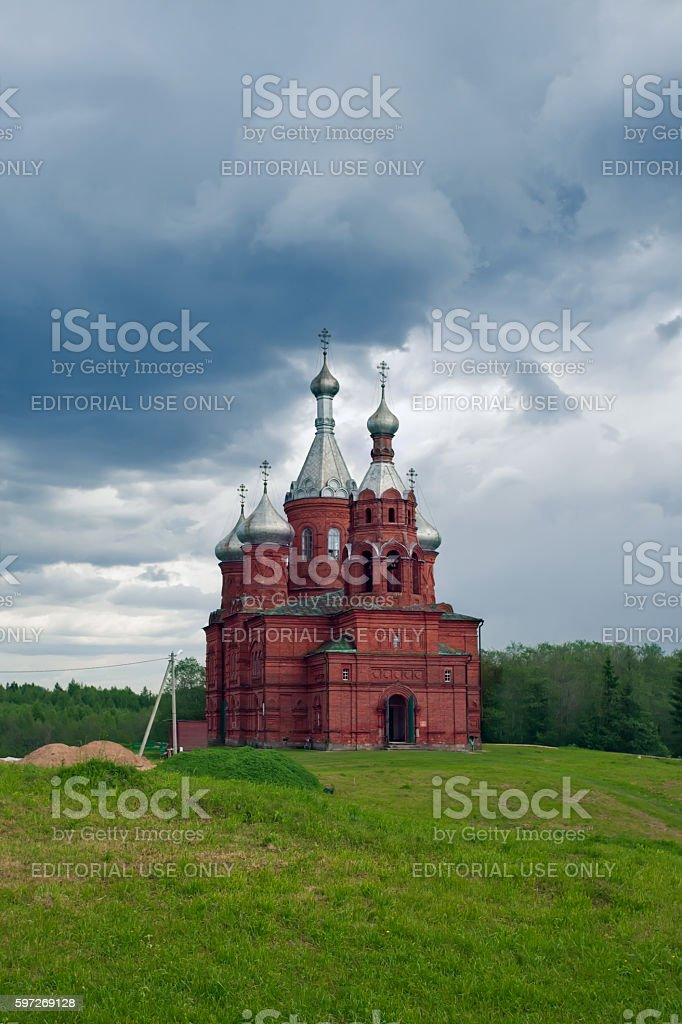 Olgas ancient orthodox church. Russia Lizenzfreies stock-foto