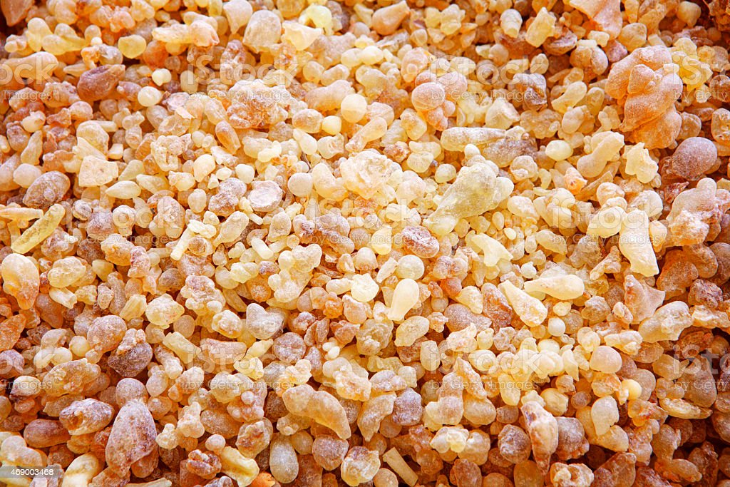 Olibanum crystals stock photo