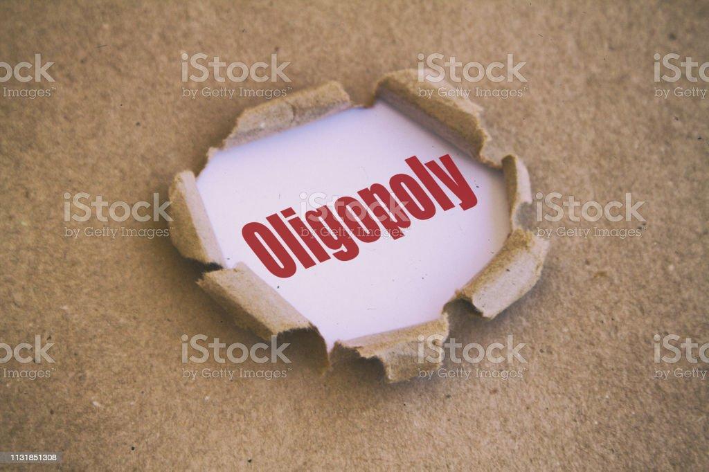Oligopol stok fotoğrafı