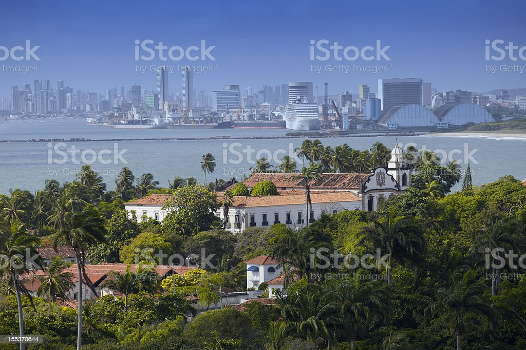 Olinda and Recife royalty-free stock photo