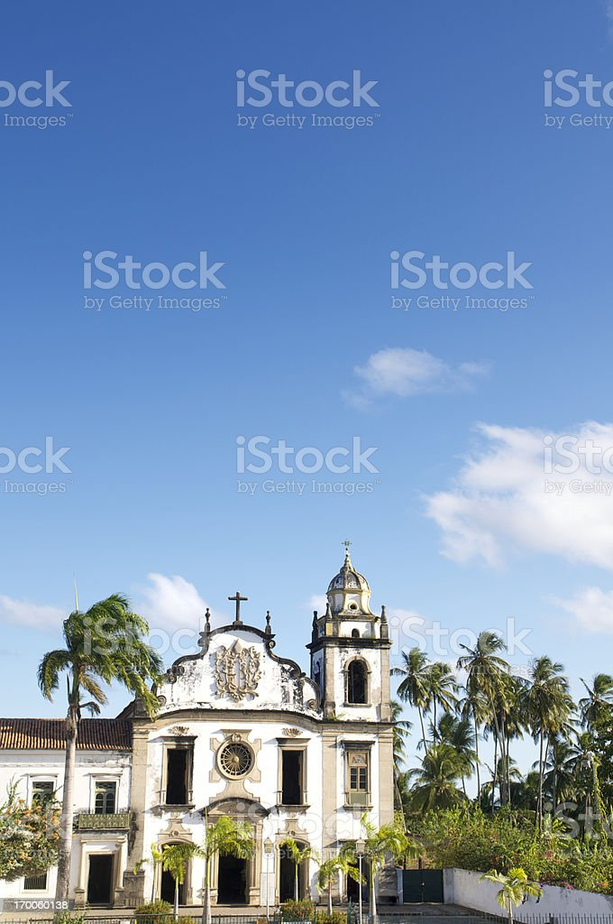 Olinda Brazil Baroque Colonial Church Monastery of Saint Benedict royalty-free stock photo