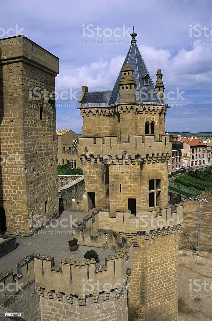 Olite Castle 1 royalty-free stock photo