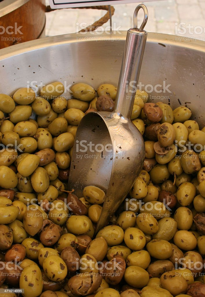 Olive bowl royalty-free stock photo
