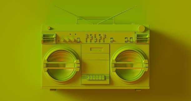 Olive Green Boombox stock photo