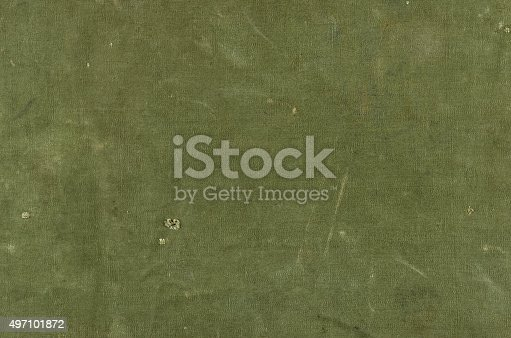 istock Olive green cotton texture with scratches ans rips 497101872