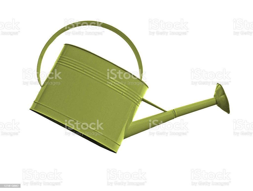 Olive Green Watering Can royalty-free stock photo