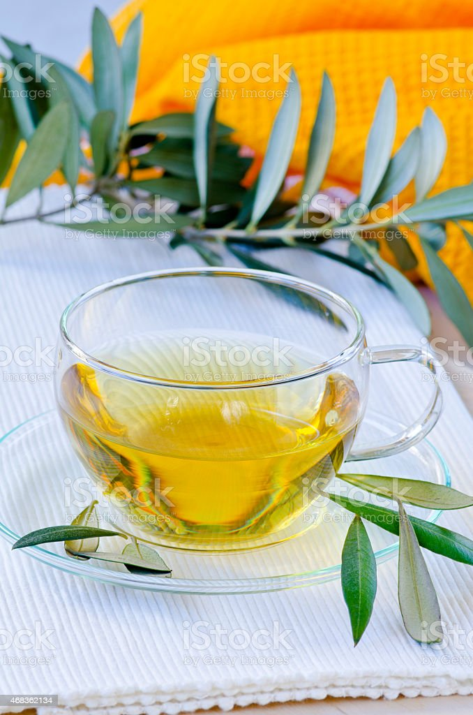 Olive leaf herbal tea. Dietary Supplements. royalty-free stock photo